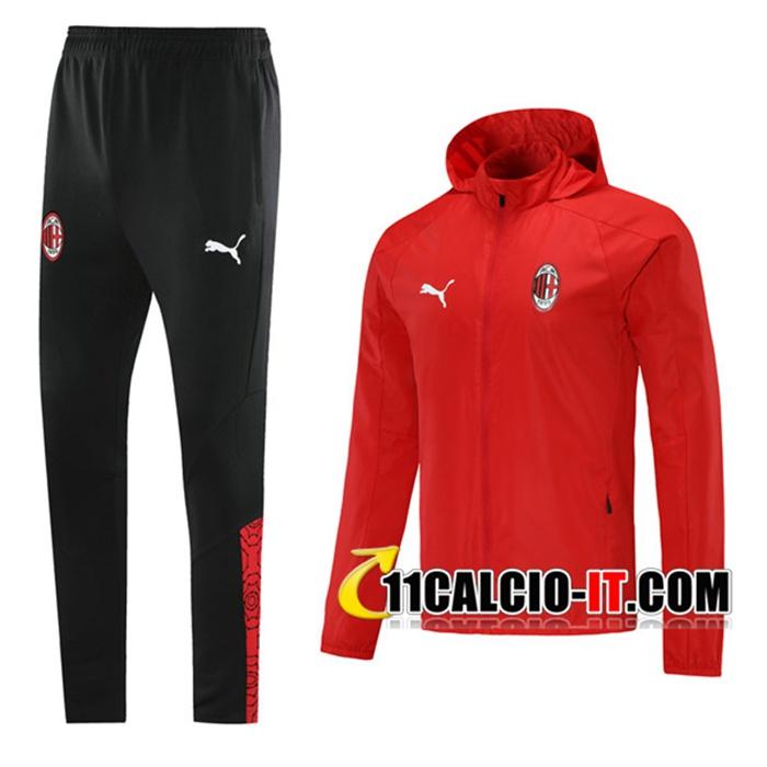Personalizzazione Giacca A Vento Tuta AC Milan Blu Navy 2020/2021
