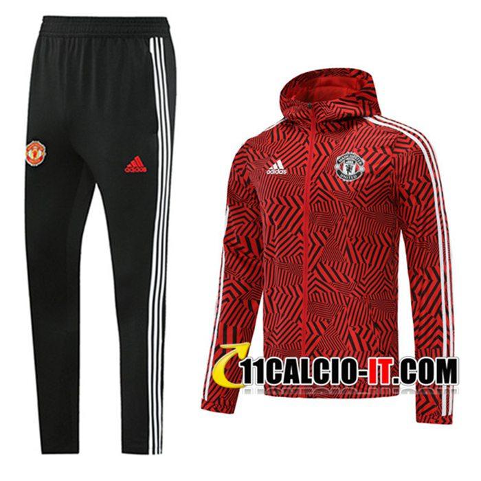 Personalizza Giacca A Vento Tuta Manchester United Nero/Rosso 2020 ...