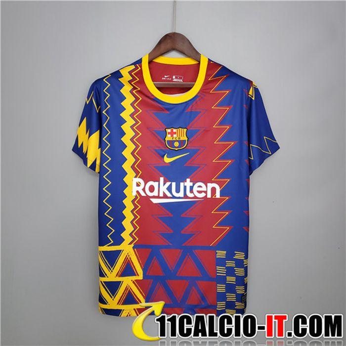 Siti T Shirt Allenamento FC Barcellona Rosso/Blu 2021/2022
