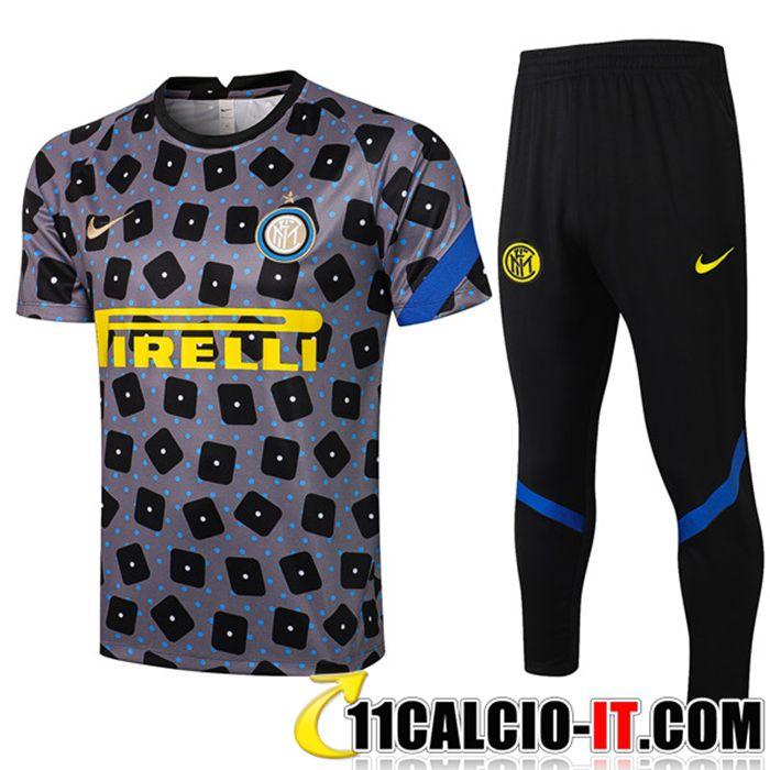 Outlet Kit Maglia Allenamento Inter Milan Pantaloni Nero/Grigio ...