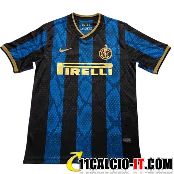 Crea Maglia Calcio Inter Milan Prima Maniche lunghe 2020/2021