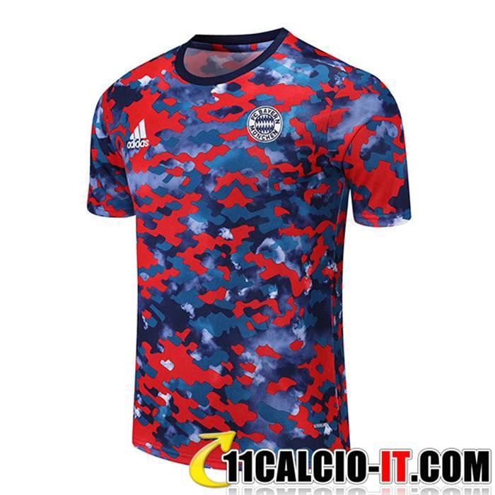 Ingrosso T Shirt Allenamento FC Bayern Monaco Rosso/Blu 2021/2022