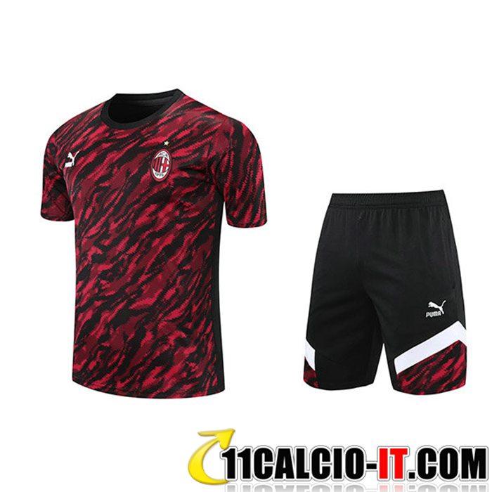 Siti Per Kit Maglia Allenamento AC Milan Pantaloncini Rosso/Nero ...