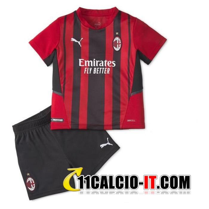 Tutte Le Maglie Calcio AC Milan Bambino Prima 2021/2022