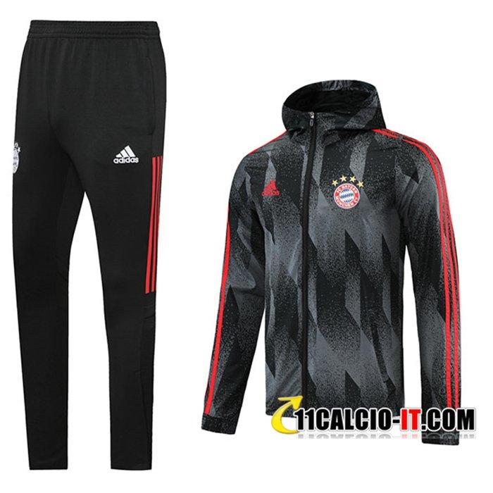 Crea Giacca Con Cappuccio Tuta Bayern Monaco Nero 2021/2022