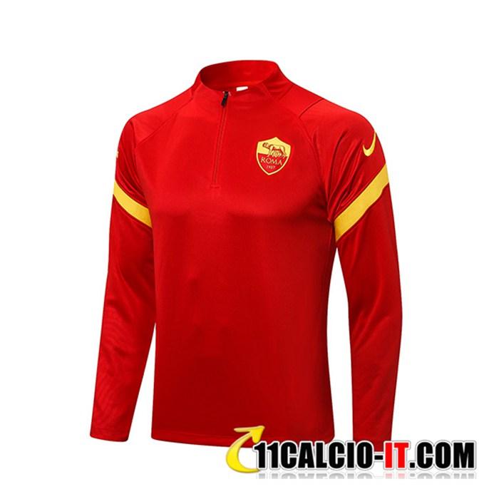 Sito Felpa Allenamento Training AS Roma Nois/Rosso 2021/2022