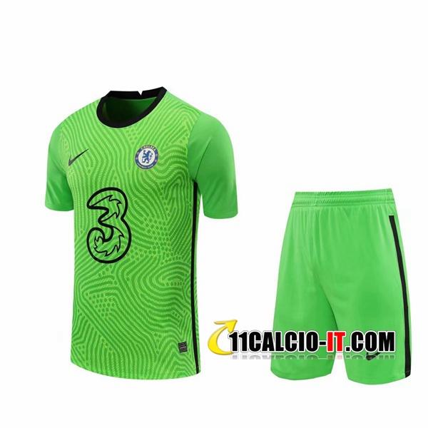 Crea Maglia Calcio FC Chelsea Portiere Verde 2020/2021
