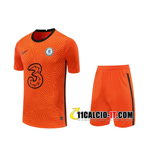 Crea Maglia Calcio FC Chelsea Portiere Arancione 2020/2021