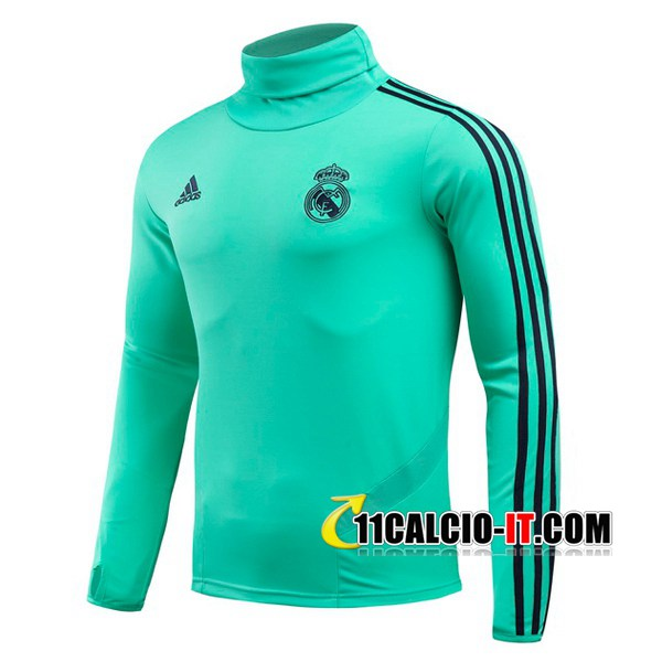 Felpa da training Real Madrid Verde Collo Alto 2019-2020 | 11calcio-it