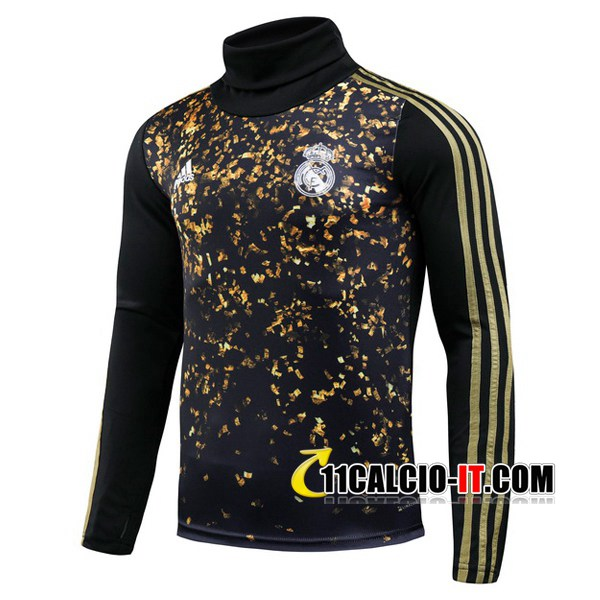 Felpa da training Real Madrid Adidas × EA Sports™ FIFA 20 Nero Collo Alto 2019-2020 | 11calcio-it