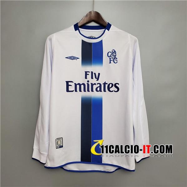 Maglia Calcio FC Chelsea Retro Seconda Maniche lunghe 2003/2005