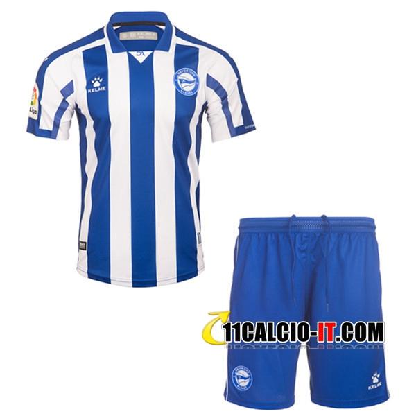 Maglia Calcio Deportivo Alaves Bambino Prima 2020/2021