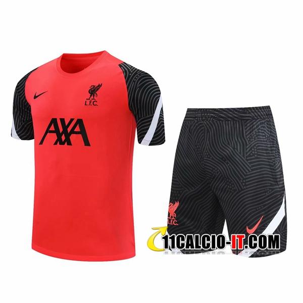 Nuove Kit Maglia Allenamento FC Liverpool Pantaloncinis Rosso ...