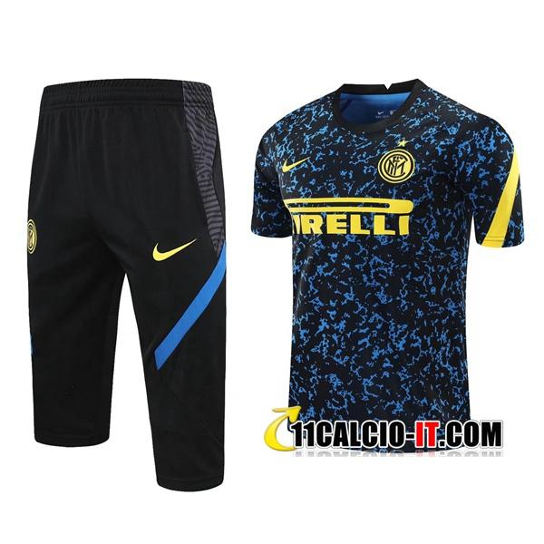 Nuove Kit Maglia Allenamento Inter Milan Pantaloni 3/4 Blu 2020 ...