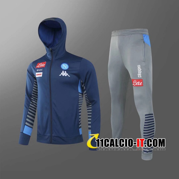 Nuove Tuta Calcio - Giacca A Vento SSC Napoli Blu 2020-2021 ...