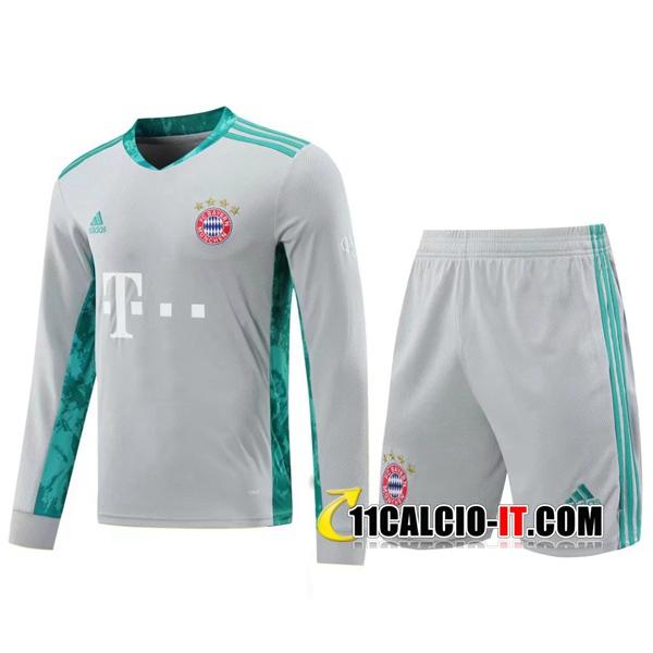 Crea Kit Maglia Calcio Bayern Monaco Portiere Grigio 2020/2021
