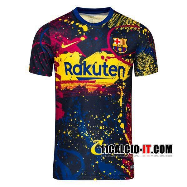 Nuove T Shirt Allenamento FC Barcellona Ossidiana Nero 2019/20 ...