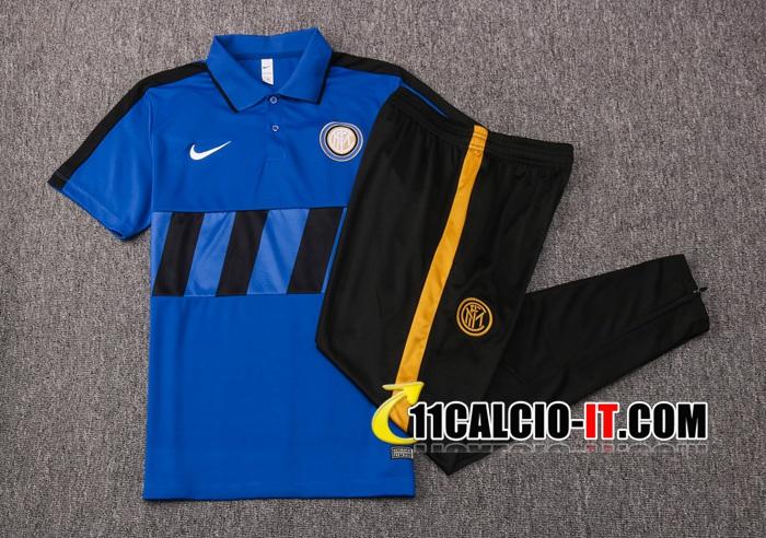 Nuove Kit Maglia Polo Inter Milan Pantaloni Blu Nero 2020/21 ...