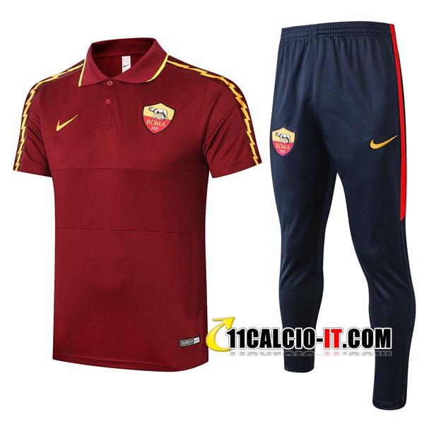 Nuove Kit Maglia Polo AS Roma Pantaloni Rosso Scuro 2020/21 ...