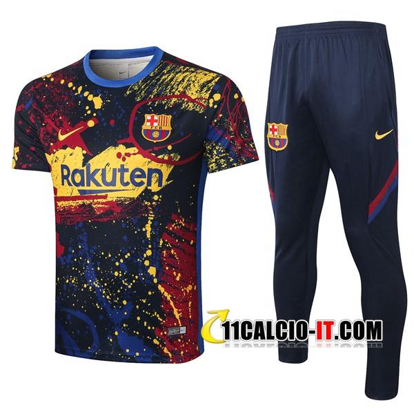Nuove Kit Maglia Allenamento FC Barcellona Pantaloni A Getto d ...