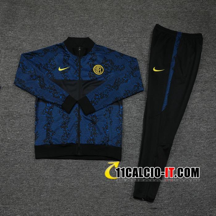 Nuove Tuta Calcio - Giacca Inter Milan Blu Nero 2020/21 | Tailandia