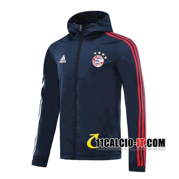 Nuove Giacca A Vento Bayern Monaco Blu Reale 2020/21   Tailandia