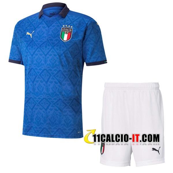 Nuove Maglia Calcio Italia Bambino Prima 2020/21 | Tailandia