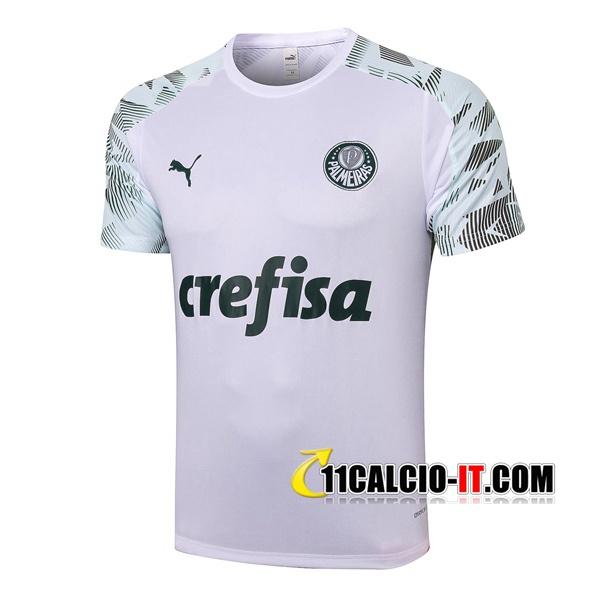 Nuove T Shirt Allenamento Palmeiras Bianco 2020/21 | Tailandia