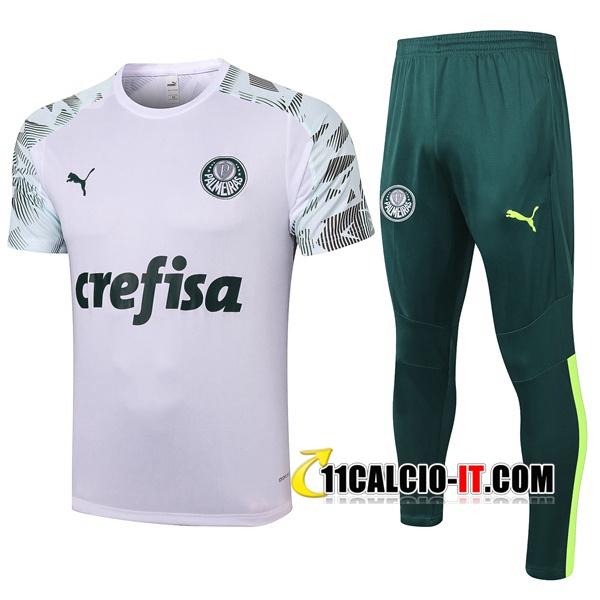 Nuove Kit Maglia Allenamento Palmeiras Pantaloni Bianco 2020/21 ...