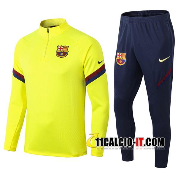 Nuove Tuta Calcio - Giacca FC Barcellona Giallo 2020/21 | Tailandia