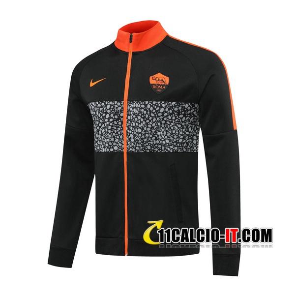 Nuove Giacca Calcio AS Roma Nero 2020/21 | Tailandia