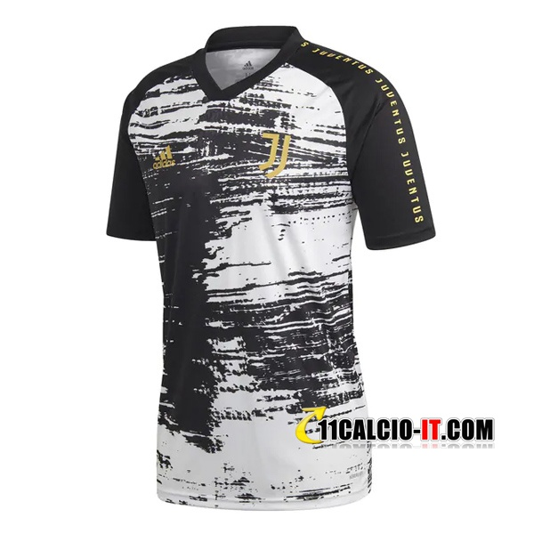 Nuove T Shirt Allenamento Juventus Nero/Bianco 2020/21   Tailandia