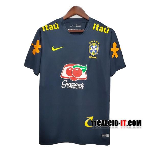 Nuove T Shirt Allenamento Brasile Grigio Scuro 2020/21 | Tailandia