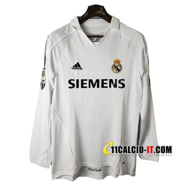 Maglia Calcio Real Madrid Retro Prima Maniche lunghe 2005/2006