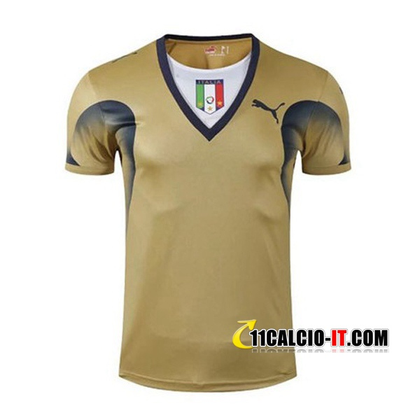 Maglia Calcio Italia Retro Portiere Giallo Coupe du Monde 2006