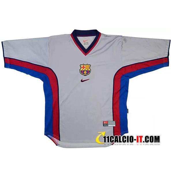 Maglia Calcio FC Barcellona Retro Seconda 1998/2001