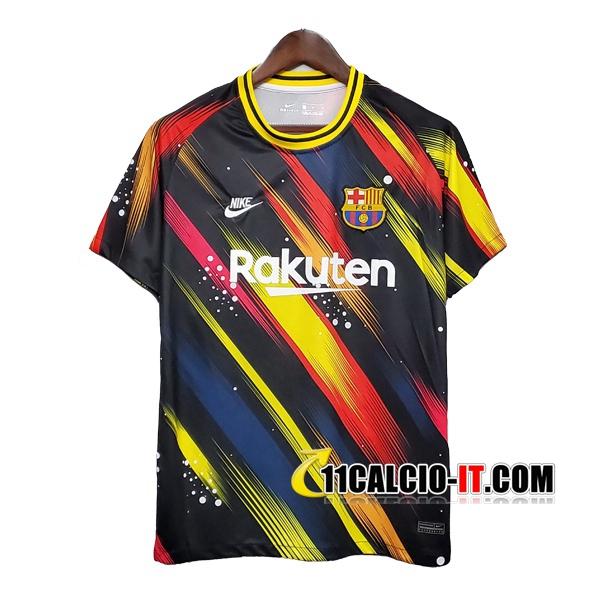 Nuove T Shirt Allenamento FC Barcellona Nero Giallo 2020/21 ...