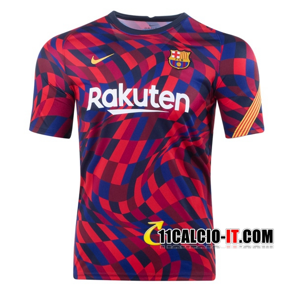 Nuove T Shirt Allenamento FC Barcellona Rosso 2020/21   Tailandia