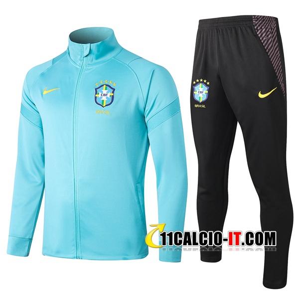 Nuove Tuta Calcio - Giacca Brasile Blu 2020-2021   11calcio-it