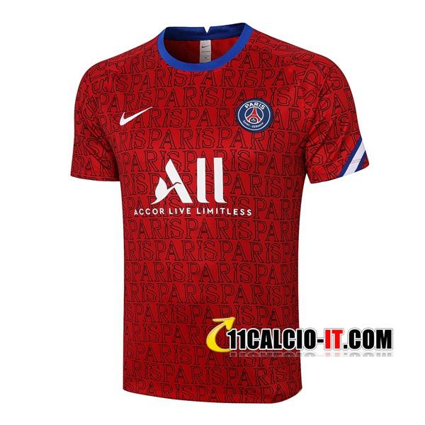 Nuove T Shirt Allenamento Paris PSG Rosso 2020/21 | Tailandia