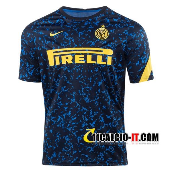 Nuove T Shirt Allenamento Inter Milan Blu 2020/21   Tailandia