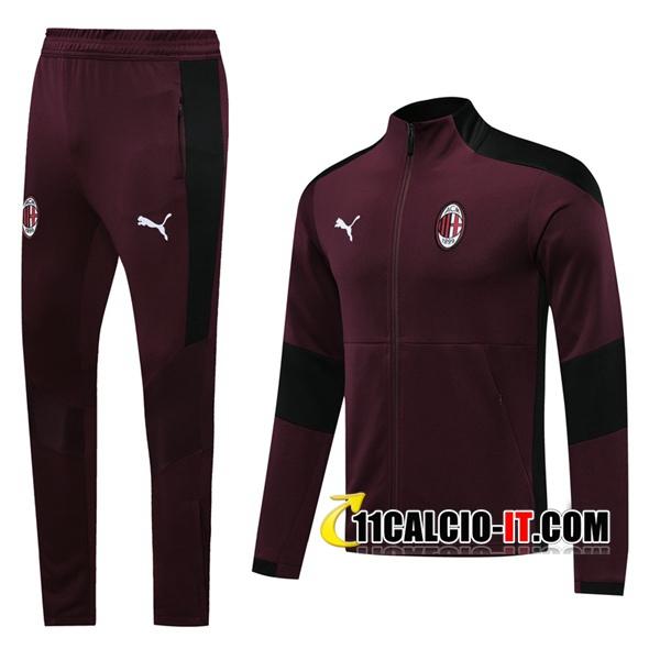 Nuove Tuta Calcio - Giacca Milan AC Rosso 2020-2021   11calcio-it