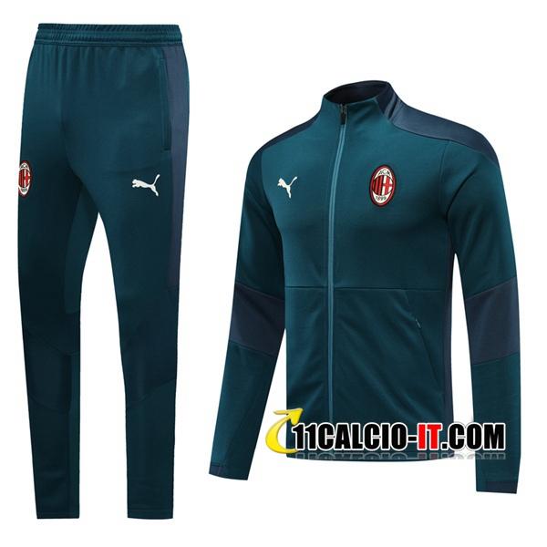 Nuove Tuta Calcio - Giacca Milan AC Verde 2020-2021 | 11calcio-it