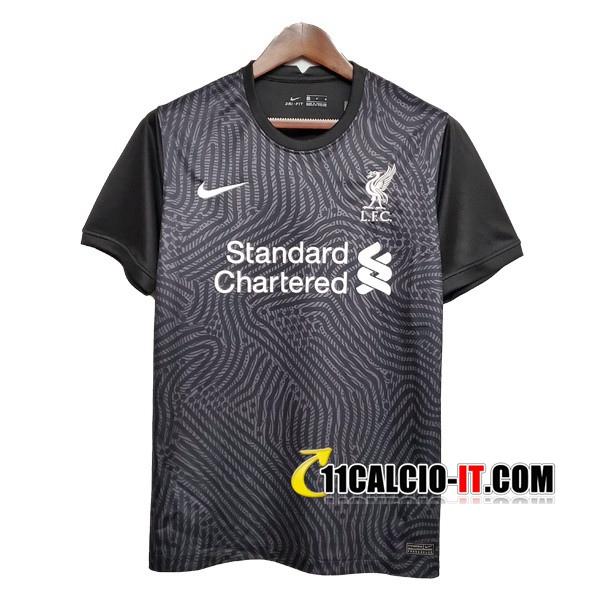 Nuove Maglia Calcio FC Liverpool Portiere Nero 2020/21   Tailandia