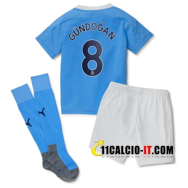 Nuove Maglia Calcio Manchester City (Gundogan 8) Bambino Prima ...