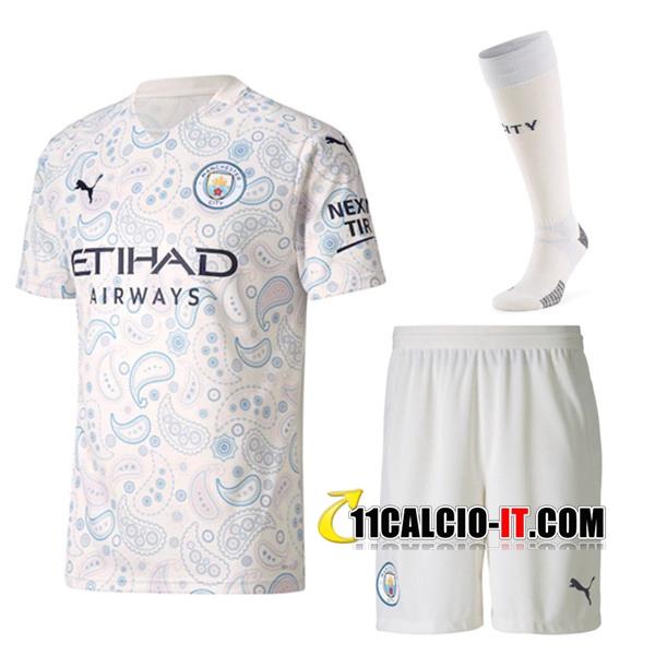 Kit Personalizza Maglia Calcio Manchester City Terza (Pantaloncini ...