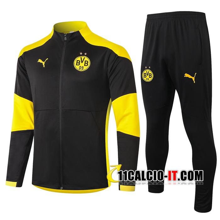 Nuove Tuta Calcio - Giacca Dortmund BVB Nero 2020-2021 ...