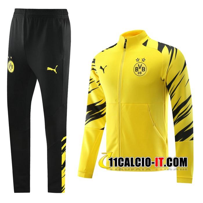 Nuove Tuta Calcio - Giacca Dortmund BVB Giallo 2020-2021 | 11calcio-it