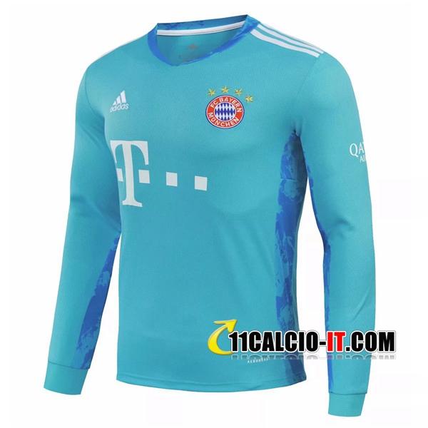 Personalizza Maglia Calcio Bayern Monaco Portiere Manche longue ...