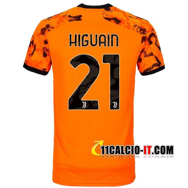 Crea Maglia Calcio Juventus (HIGUAIN 21) Terza 2020/2021